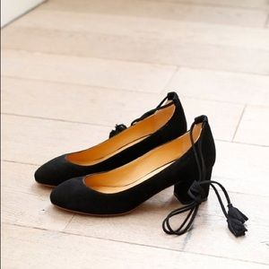 Sezane Valentina Ankle Wrap Pump Black size 39
